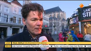 """Burgemeester Breda: """"we laten ons niet gek maken"""""""