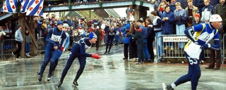 De start van de Elfstedentocht 1985