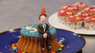 Verjaardagscupcake voor Mark Rutte