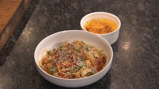 Spaghetti venkel en salami