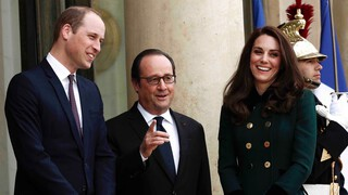 Prins William en hertogin Kate in Parijs