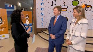 Interview met de koning en koningin bij de koningsspelen