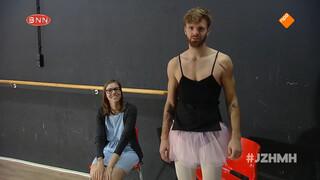 Tim Hofman als ballerina