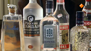 Wodka = pure alcohol verdunt met water