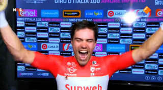Dumoulin eindbaas in Giro