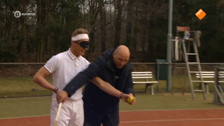 Blind tennissen