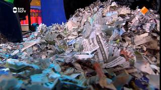 Huiswerk verpulveren met shredder