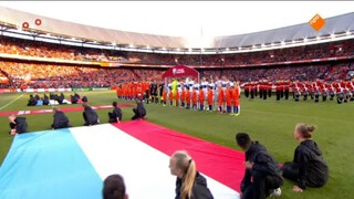 NOS WK-kwalificatie Voetbal Nederland - Luxemburg 1ste helft