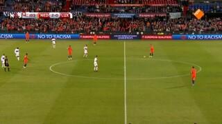 NOS WK-kwalificatie Voetbal Nederland - Luxemburg 2de helft