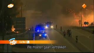 Getuige van bosbrand in Portugal