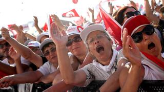 Turken protesteren tegen Erdogan