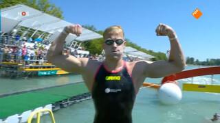 WK-goud voor Weertman op 10 km openwaterzwemmen