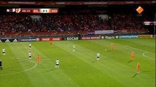 NOS EK vrouwenvoetbal NOS EK vrouwenvoetbal Nederland - Belgie 2de helft en nabeschouwing