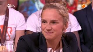 Jinek Sarina Wiegman, Lieke Martens, Vivianne Miedema, Shanice van de Sanden en Sherida Spitse
