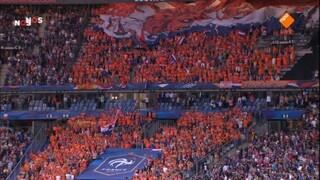 NOS WK-kwalificatie Voetbal Frankrijk - Nederland 1ste helft