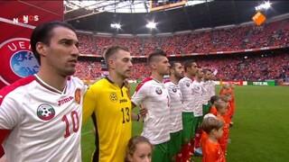 NOS WK-kwalificatie Voetbal Nederland - Bulgarijë 1ste helft