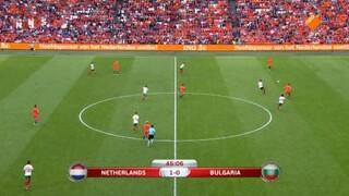 NOS WK-kwalificatie Voetbal Nederland - Bulgarijë 2de helft