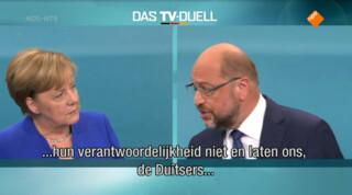 Merkel en Schulz kruisen de degens