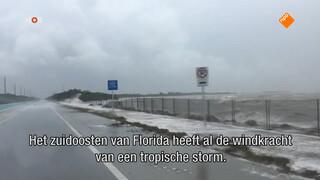 Eerste schade in Florida door Irma