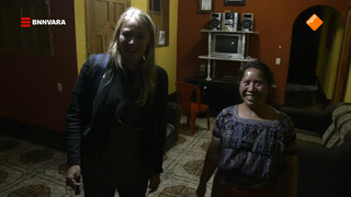 Geraldine slaapt bij een Maya-familie