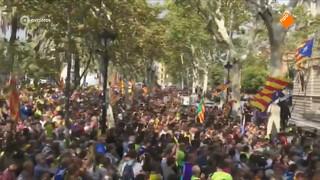 Grote demonstraties in Catalonië
