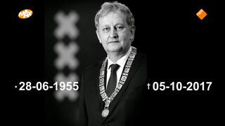 De Amsterdamse burgemeester Van der Laan overleden
