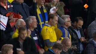 NOS WK-kwalificatie Voetbal Nederland - Zweden 1ste helft