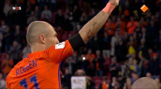 Arjen Robben neemt afscheid van Oranje