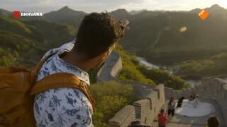 Maurice beklimt de Chinese Muur
