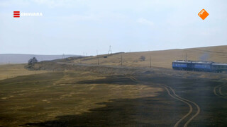 Maurice treint door de uitgestrekte Mongoolse landschappen