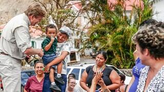 Koning bezoekt Sint-Maarten, Saba en Sint-Eustatius na orkaan