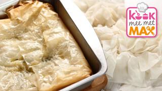 Kook mee met MAX Boerenkool-filotaart met worteltzaztiki