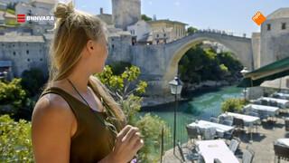 Geraldine bezoekt de beroemde brug van Mostar
