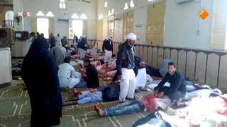 Bloedbad bij aanval moskee in Egypte