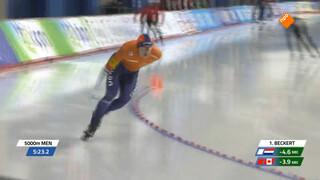 Kramer wint 5.000 meter, maar niet in een wereldrecord