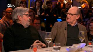 Philip Freriks en Maarten van Rossem vieren de verjaardag van 'De slimste mens'