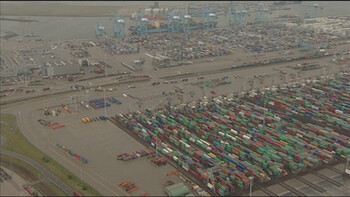 Containers in de Rotterdamse haven