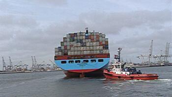 De haven in Rotterdam