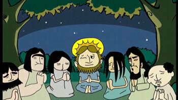 Het verhaal bij Pasen