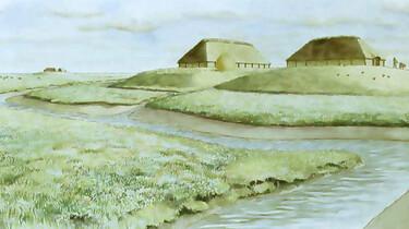 Het ontstaan en de inrichting van Nederland : Natuurlijk landschap, de eerste nederzettingen