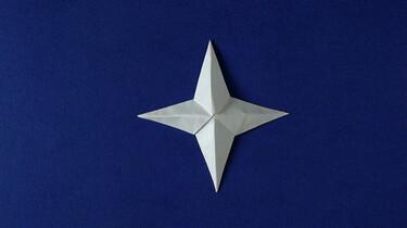 Een ster van origami