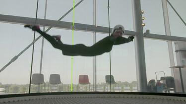Hoe werkt indoor skydiven?: Zweven met een windsnelheid van 300 km per uur