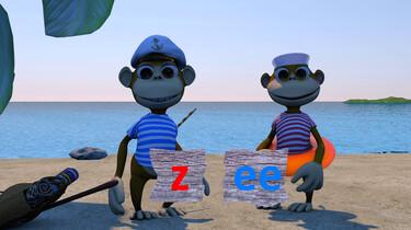 Letterjungle: De letter z: zee