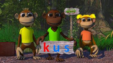Letterjungle: De letter k: kus