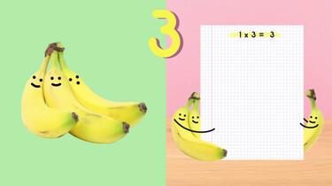 Fruit op Tafel: De tafel van drie