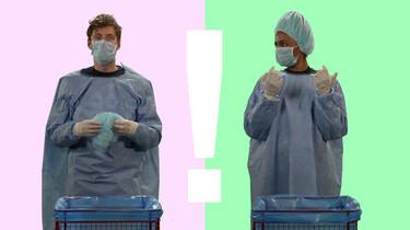 Hoe besmettelijk is een virus?: Zo gebruik je handschoenen en mondkapjes