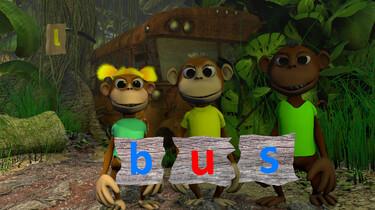 Letterjungle: De letter u: bus