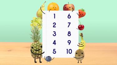 Fruit op Tafel: Tellen tot en met tien