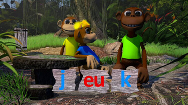 Letterjungle: De letter eu: jeuk