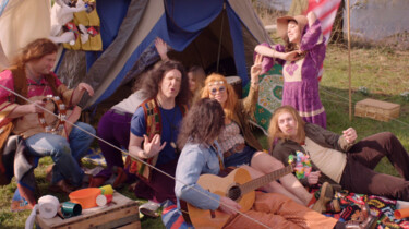 Hippies op Woodstock: Peace, love en lange haren
